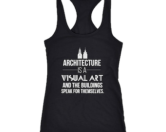 Architect Racerback Tank Top T-Shirt. Funny Architect Tank.