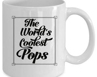 Pops white coffee mug. Funny Pops gift
