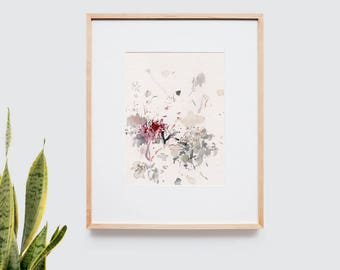 Abstract art composition - Contemporary art - Watercolor Print - Limited edition. Untitled II.