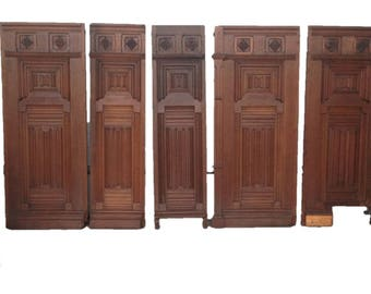 Antique French Renaissance Architectural Wall Panels in French Oak 19th Century #7214