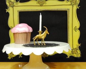 Golden Antelope Birthday Candle Holder