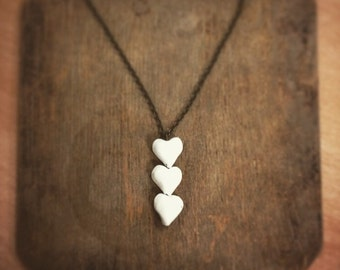 Porcelain Hearts Necklace