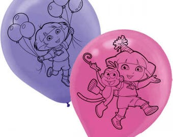 Dora the Explorer ''Flower Adventure'' Latex Balloons 6ct
