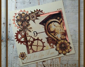"""Steampunk Card """" Just For You Mum"""""""