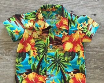 Baby boy hawaiian shirt