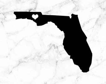 Florida decal, Florida capital decal, Tallahassee sticker, I heart Florida