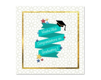 Islamic Masha'Allah Graduation Card