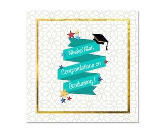 Islamic Masha'Allah Graduation Card