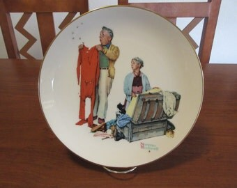 "Vintage China Norman Rockwell ""Chilly Reception"" Plate"