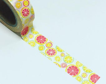 Zesty lemon washi, lemon washi tape, zesty washi tape