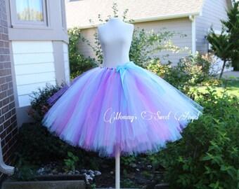 Hot Pink, purple,  Aqua adult tutu skirt. Easter tutu. Bachelorette tutu. Bridesmaid tutu. More color options available!!!!