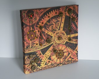 Steampunk Inspired 3D Fusion Canvas