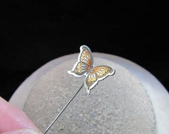 Vintage Signed Reed & Barton Butterfly Stick Pin