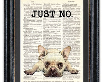 French Bulldog, Dictionary Art Print, French Bulldog Art Print, Bulldog Art, Frenchie, Funny Dog