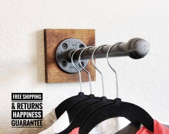 Industrial pipe clothing hook ⋆ Industrial hanger ⋆ industrial hook ⋆ purse hook ⋆ closet hook ⋆ retail display ⋆ pipe hook⋆ garment hook