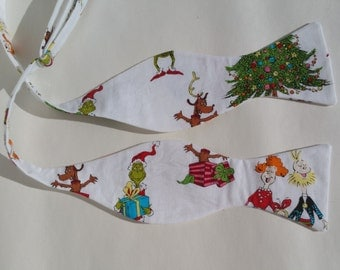 How the Grinch Stole Christmas with Max, Whos from Whoville Self Tie Bow tie Adjustable Freestyle