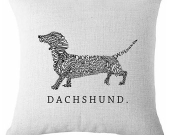 Dachshund Pillow, Weiner Dog Pillow, Sausage Dog Pillow, Weiner Dog, Dachshund Cushion, Dachshund Picture,