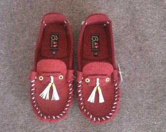 Wool Felt Warm Flat Moccasin Slippers