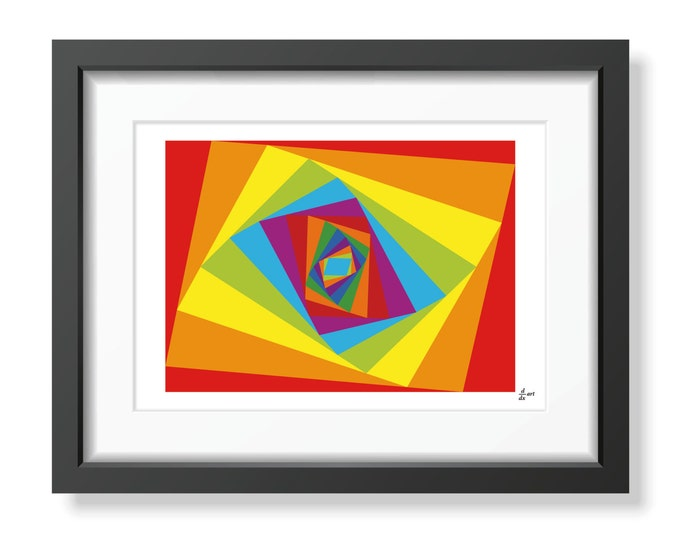 Ladybird festival [mathematical abstract art print, unframed]