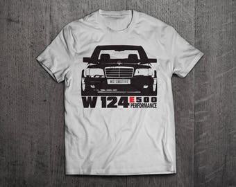 Mercedes W 124 Shirts, Mercdes t shirts, Benz shirts, Cars shirts, men t shirt, women t shirt, funny shirts, E class shirts, vintage car