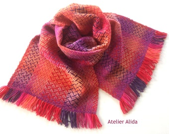 Scarf, handwoven, wool
