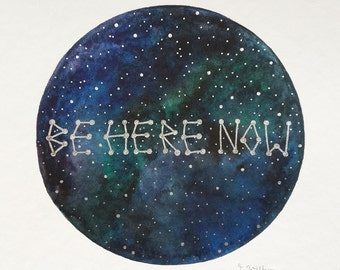 """original painting """"be here now"""""""