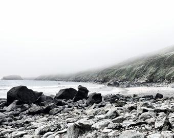 Fog And Mist Creeping Over The Beach