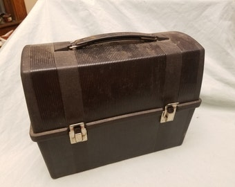 Vintage black plastic lunchbox Aladdin No thermos