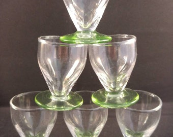 6 small liqueur glasses