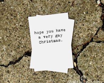 LGBT, LGBT Holiday Card, Christmas Card, Seasonal Card, Greeting Card, Funny Holiday Card, Gay Christmas, Blank Inside, Lesbian, Gay Card