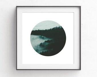 Square Wall Prints, Forest Wall Print, Minimalist Modern Prints, Large Photography Wall Print, Nature Photography Wall Print