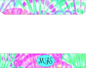 Personalized Monogram Inspired Lilly Pulitzer License Plate