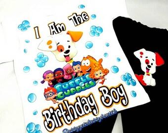 Bubble Guppies Birthday Set, Bubble Guppy Shirt, Bubble guppies, Boys Jeans, Bubble Guppies Shirt, Girls Denim Set, Boys jean Outfit