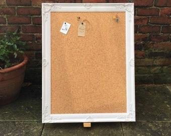 large framed corkboard extra large pin board ornate cork board shabby chic notice - Framed Cork Board