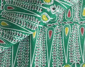 Indian Fabric, Bindi Print, Green Print, Rain Drop print, Printed Cotton,Indian Fabric,Fabric by the yard, Ornate Print, teeka print