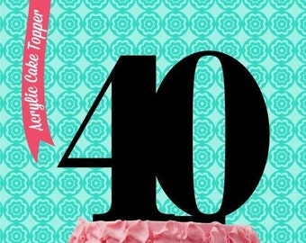 Acrylic Cake Topper for Decorating your Cake - 40 Forty