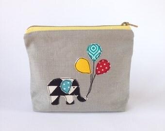 Elephant Cosmetic Bag
