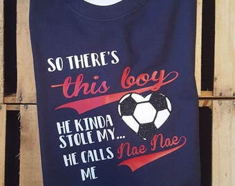 So there's this boy soccer shirt