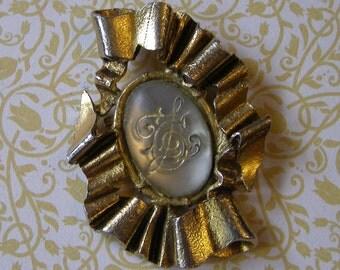 Broche vintage/ Broche Chantal Thomass /antiquityfrench/Bijoux Style Baroque/ Chantal Thomass Jewelry / Vintage Jewelry 80s/