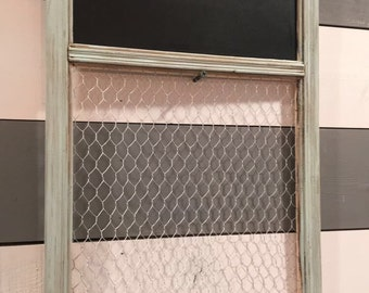 Chalkboard and Chicken Wire Hanging, To-Do List, Menu, Menu Sign, Chalkboard Sign, Chalk board Menu and chicken wire, To Do List, To do
