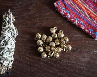 Tibetan brass bells - Pack of 10
