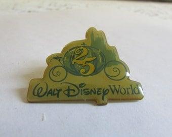 VINTAGE Épinglette De Walt Disney World 25 Anniversaire , VTG Walt Disney World Pin 25 th Anniversary VTG , Collection De Pin