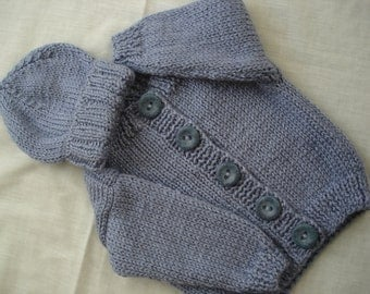 6-9 Month Infant Baby Cardigan Sweater - Slate Blue