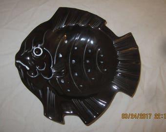 black fish ashtray