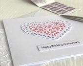Wedding Anniversary Card - Happy Anniversary Card - Handmade Anniversary Greeting Card. For him, for her, for wife, for husband, for friends