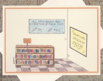Humor Card, Nerd Humor, Math Humor, Quirky Card, Cartoon Card, Funny Greeting Card