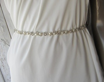 Wedding Belt, Weddings, Bridal sash, Pearl belt, Rhinestones Belt Sash, Wedding Accessories
