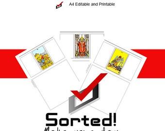 EDITABLE A4 Tarot 78 Card Workbook/Journal - Rider-Waite Deck