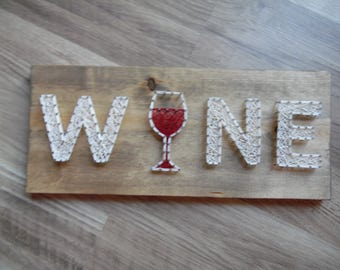 Wine string art, String Art Wine, Wine Art, Wine Home Decor, Wine Wall Art, Wine Wall Hanging, String Art Wine Glass, Wine Glass String Art