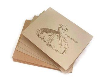 Wedding Thank You Card Set, Bridal Shower Thank You Cards, Rustic Wedding Cards, Wedding Dress Thank You Cards, Bridesmaid Thank You Card